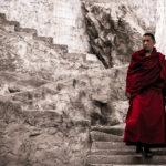 Шаги. Монах в монатыре Тиксей. Ладакх, Индия - Kartzon Dream - тревел фото, тревел видео, авторские путешествия, фототуры