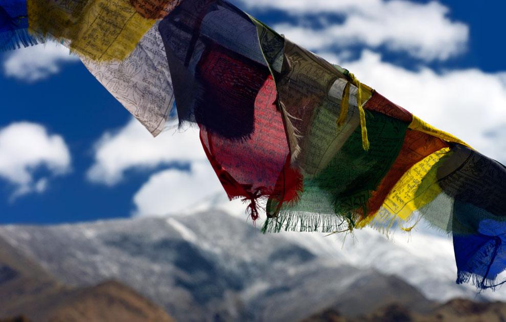 Молитвенные флаги на перевале Кхардунг Ла