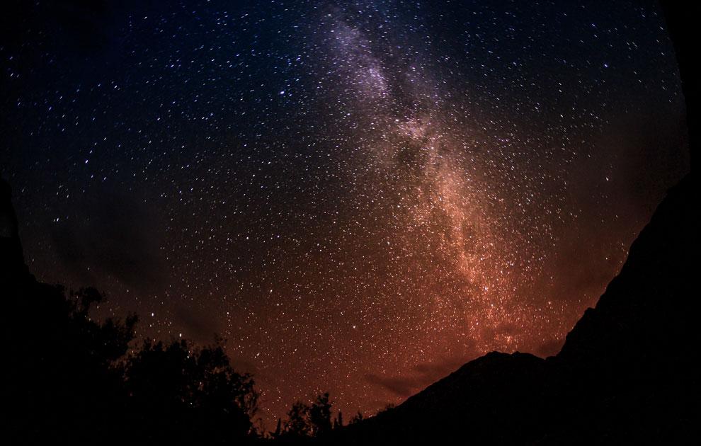 Млечный путь над Долиной Нубра