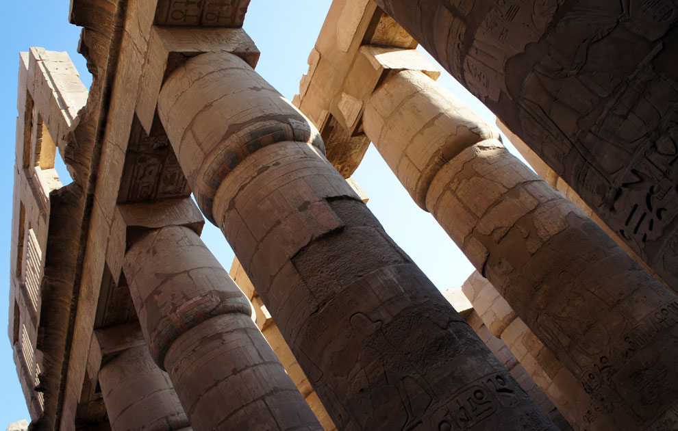 Колонны храма Амона в Карнаке