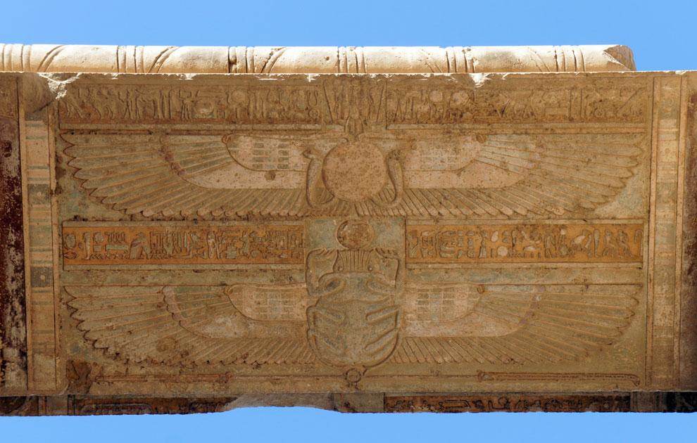 Символ Великого Посвящения, храм Дендеры