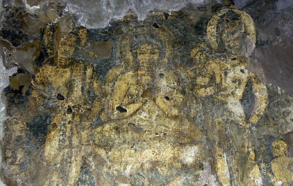 Буддийские фрески. Скальные храмы Аджанты