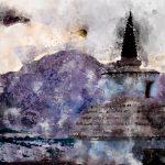 Хемис Гомпа. Цифровая акварель. Ладакх, Индия - Kartzon Dream - цифровая графика, тревел фото, тревел арт, тревел видео, авторские туры, фототуры