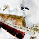 Ламаюру-Гомпа. Цифровая акварель. Ладакх, Индия - Kartzon Dream - цифровая графика, тревел фото, тревел арт, тревел видео, авторские туры, фототуры