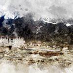 Мато-Гомпа. Цифровая акварель. Ладакх, Индия - Kartzon Dream - цифровая графика, тревел фото, тревел арт, тревел видео, авторские туры, фототуры