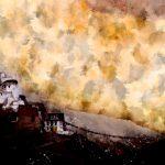 Вид с Шанти Ступы. Цифровая акварель. Ладакх, Индия - Kartzon Dream - цифровая графика, тревел фото, тревел арт, тревел видео, авторские туры, фототуры