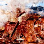 Озеро Тсо Морири. Цифровая акварель. Ладакх, Индия - Kartzon Dream - цифровая графика, тревел фото, тревел арт, тревел видео, авторские туры, фототуры