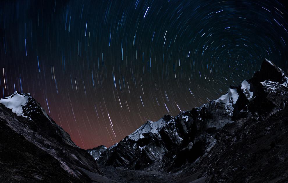 Снежники Занскара, ночная съемка