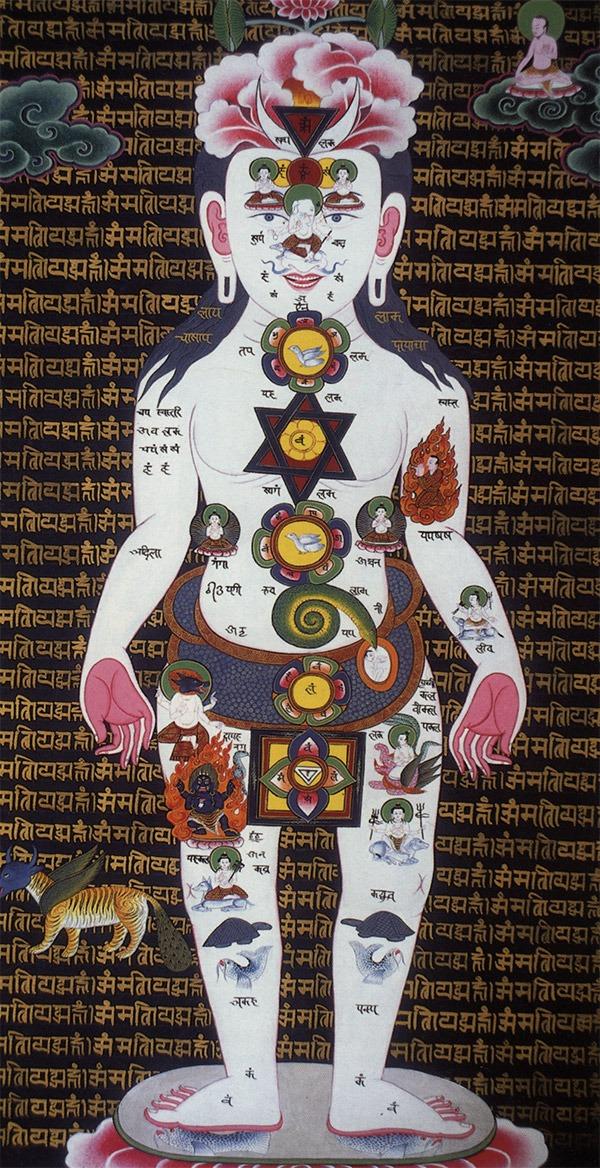 Самадхи тханка возникла в традиции gubaju этноса Newari. Человек, изображенный в виде пхурбы, стоит в центре. С левой стороны его правой ноги изображено мифическое гибридное создание, bosala (= wasala). Оно имеет голову рогатого Гаруды; скрещенную с голубой коровой (антилопа нильгау), некоторые так же говорят, что это рогатая лошадь ; тело тигра; крылья орла, и хвост самца павлина. Создание bosala пришло из традиции Newari, оно олицетворяет объединенные способности животных, и относится к mundum, коренному шаманскому видению и действию. (No. 5)