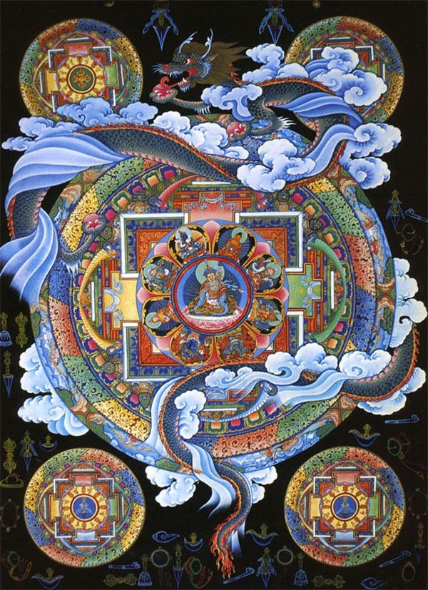Тханка этноса Таманг ихображает шаманское путешествие сознания.