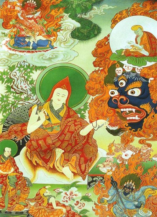 тханка Йинтиин Дорже (Тиб.). Призыв Акаш Бхайраба. (№ 25)