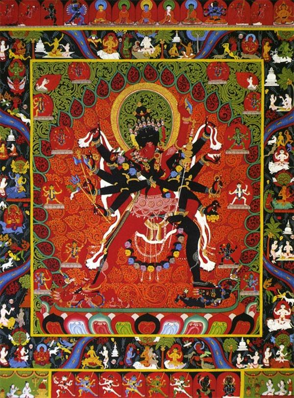 тханка Чакрасамвара, тханка в неварийском стиле (No. 19).
