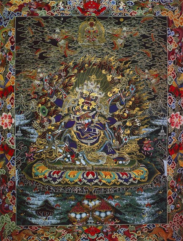 тханка Махакала Бхайраб - одна из самых гневных манифестаций Шивы, ставший защитником буддизма в Тибете