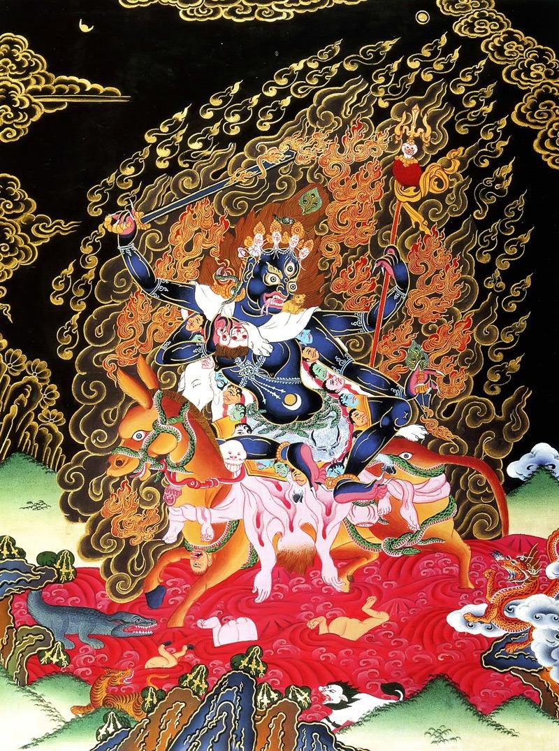 Тханка Шримати Дэви или Лхамо Дусолма (тиб.) Упрощенная репродукция, Мастерские Шахи