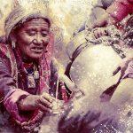 Лица Ладакха. Цифровая акварель, микс-арт
