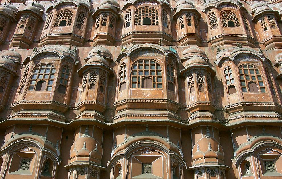 Джайпур, Дворец Хава Махал, Раджастан. Тур Краски Раджастана. Холи. Тур в Раджастан, Индия