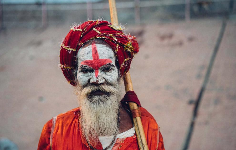 Садху - странствующий монах. Варанаси, Индия