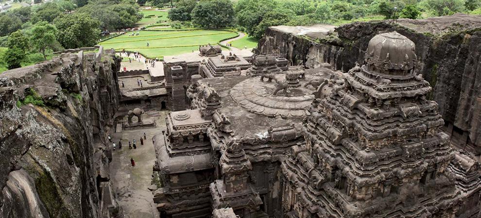 Храм Кайласанатха, Эллора, скальные храмы Эллоры - Тур в Центральную Индию