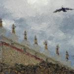 Чортены Гималаев и орел - Kartzon Dream - цифровая графика, тревел фото, тревел арт, тревел видео