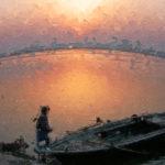 Рассвет в Бенаресе, Индия - Kartzon Dream - цифровая графика, тревел фото, тревел арт, тревел видео