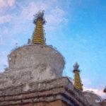 Буддийские ступы в Гималаях - Kartzon Dream - цифровая графика, тревел фото, тревел арт, тревел видео